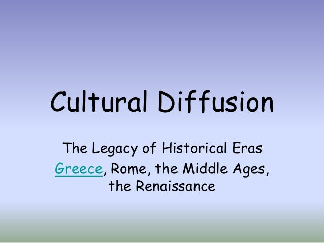 Download this Cultural Diffusion Greece Rome Renaissance Overview picture