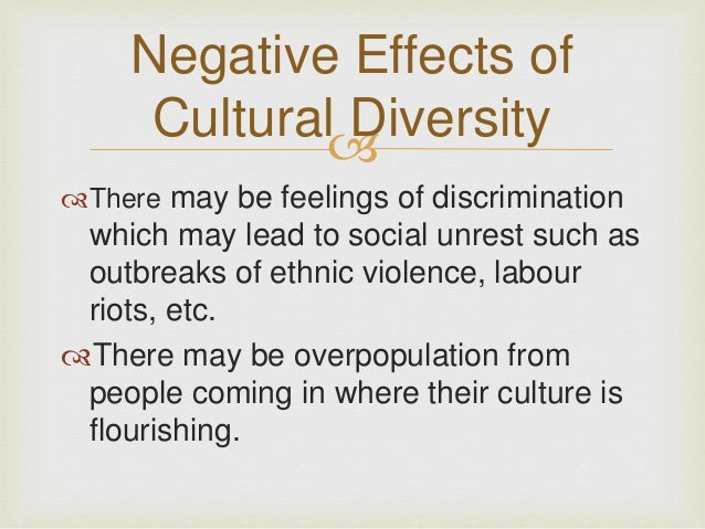 How Has Cultural Diversity Affected Society?