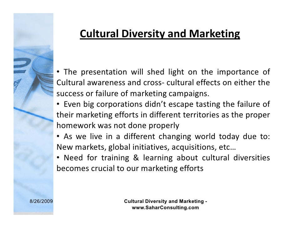 cultural diversity and cultural shock Does globalization mean we will become one culture just look at the outpouring of cultural diversity that sprang up with the collapse of the soviet union.