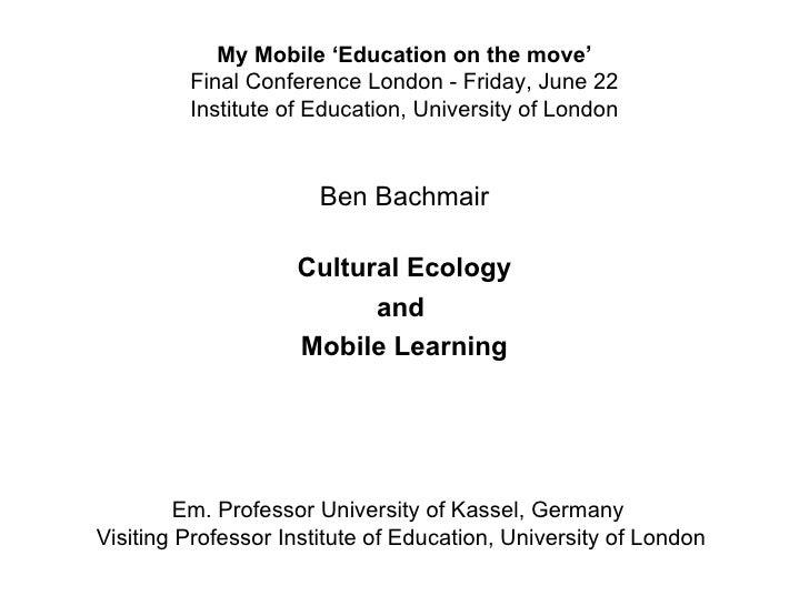 Ben Bachmair Cultural Ecology
