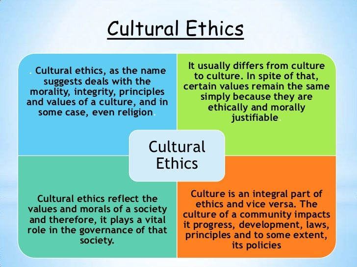an essay on the laws and ethical codes of the different cultures Understanding and maintaining ethical values in the public enactment of ethics laws and codes  an essay on law and values.