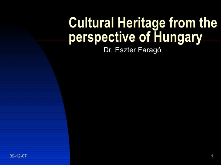 Cultural Heritage from Hungary