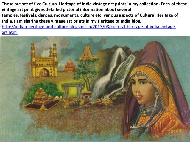 These are set of five Cultural Heritage of India vintage art prints in my collection. Each of these vintage art print give...
