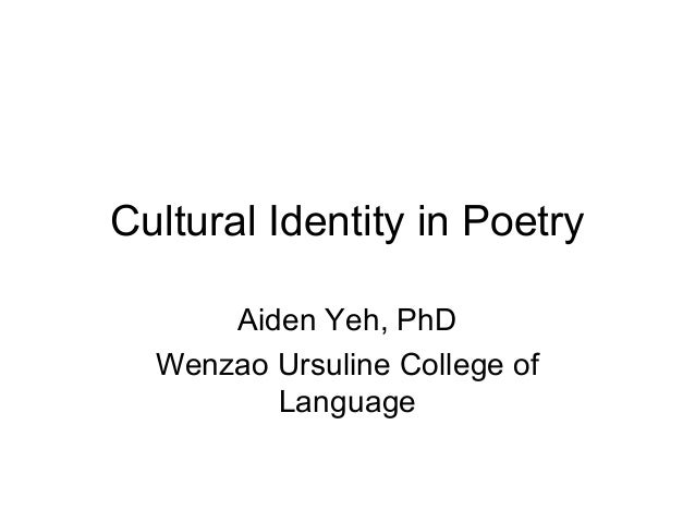 Cultural identity in poetry