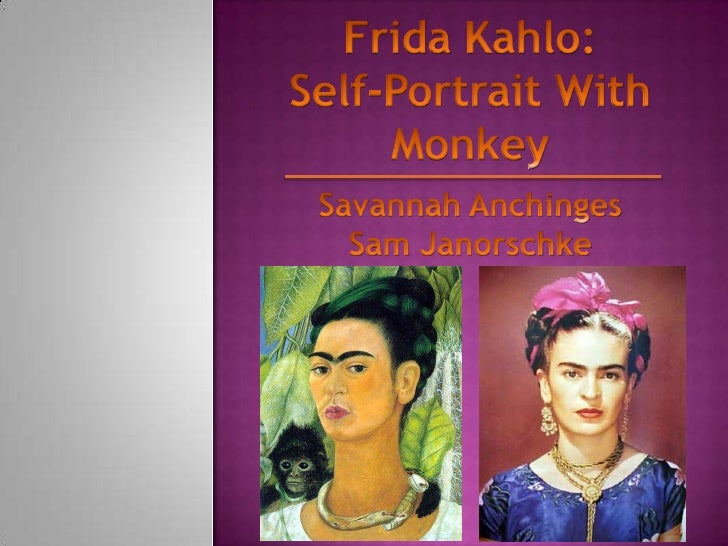 Cultural project 4 (frida kahlo self portrait with monkey)
