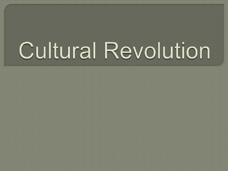 Cultural Revolution<br />