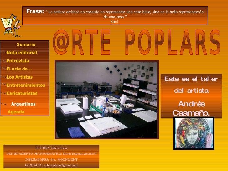 @RTE POPLARS E DITORA: Silvia Serur DEPARTAMENTO DE INFORMÁTICA: Maria Eugenia Accattoli DISEÑADORES:  6to.  MOONLIGHT CON...