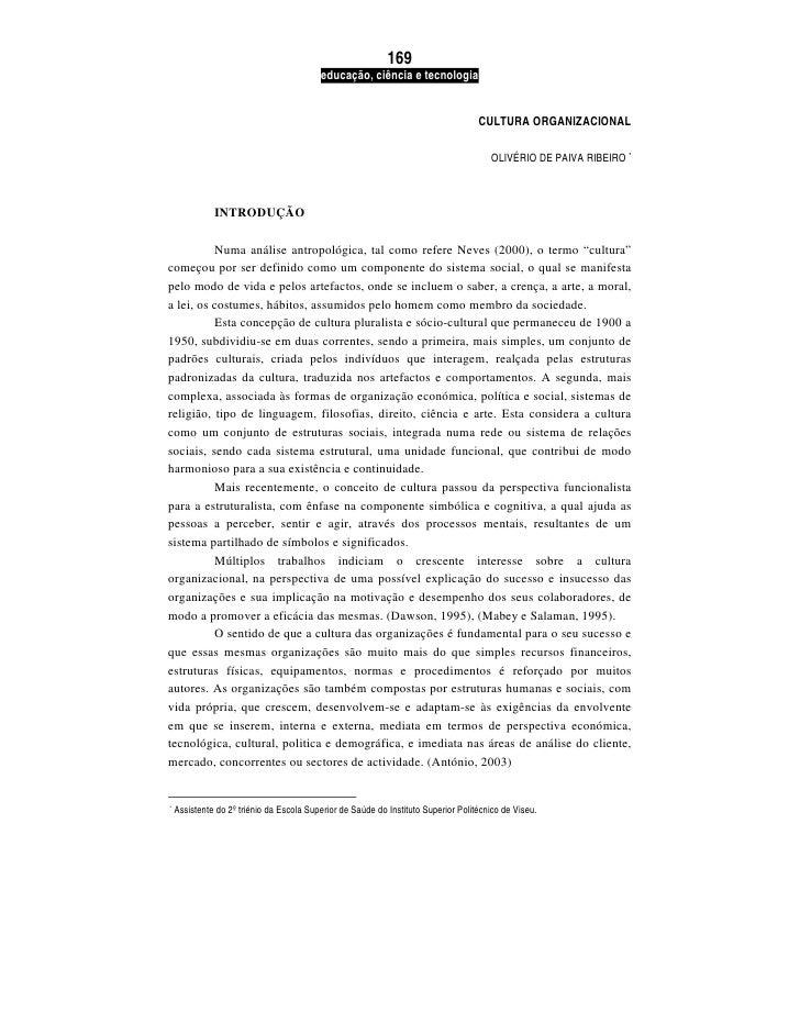 Cultura Organizacional   OlivéRio De Paiva Ribeiro