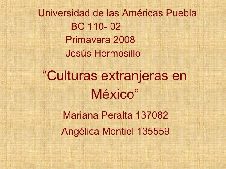 Culturas Extranjeras En MéXico