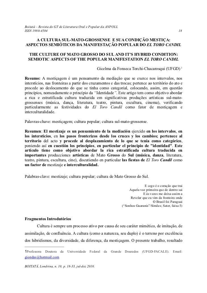 Boitatá – Revista do GT de Literatura Oral e Popular da ANPOLLISSN 1980-4504                                              ...