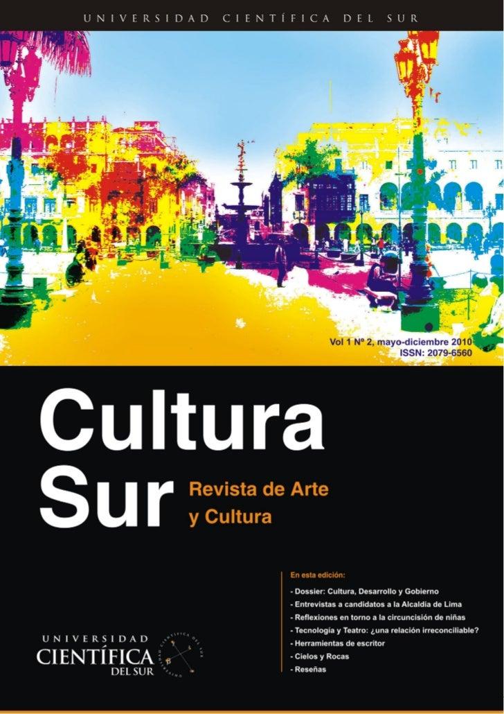 Cultura Sur Vol. 1 Nº 2