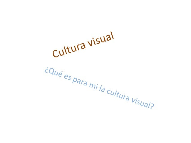 Una nueva cultura surge en nuestras vidas. http://www.youtube.com/watch ?v=HrqXTHCGVEo