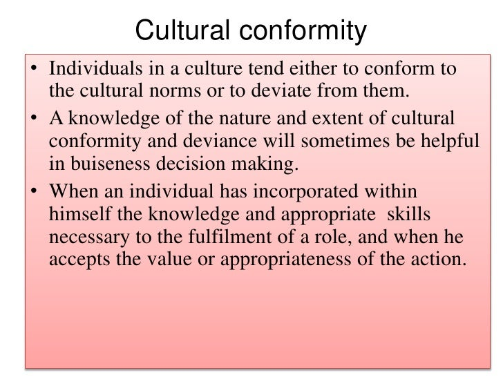 individuality or conformity