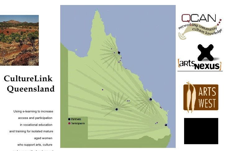 CultureLink Queensland      Using e-learning to increase         access and participation          in vocational education...