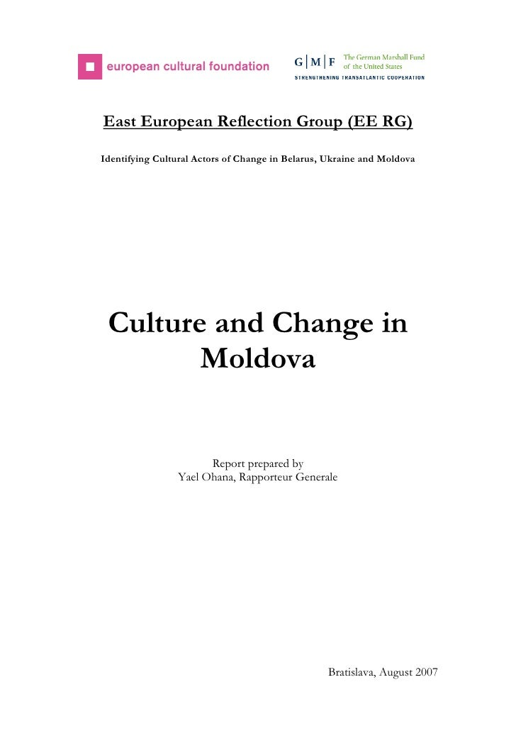 East European Reflection Group (EE RG)Identifying Cultural Actors of Change in Belarus, Ukraine and Moldova Culture and Ch...