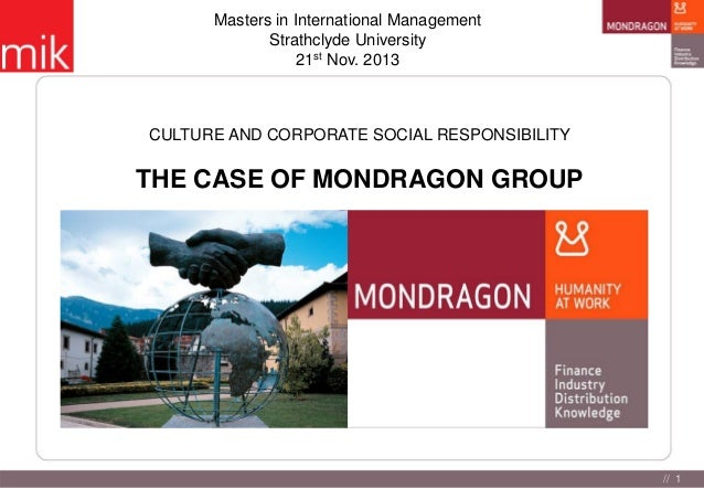 Masters in International Management Strathclyde University 21st Nov. 2013  CULTURE AND CORPORATE SOCIAL RESPONSIBILITY  TH...