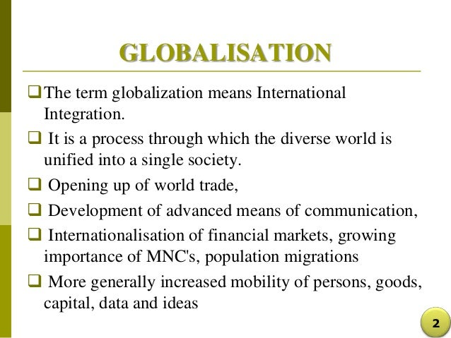 Is globalization a concept of sociology?