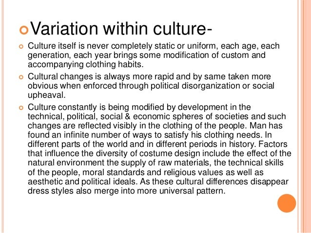 factors influencing culture and cultural differences