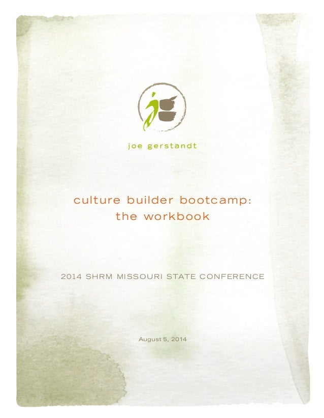 Culture Builder Bootcamp: Building an Inclusive Organizational Culture (workbook)