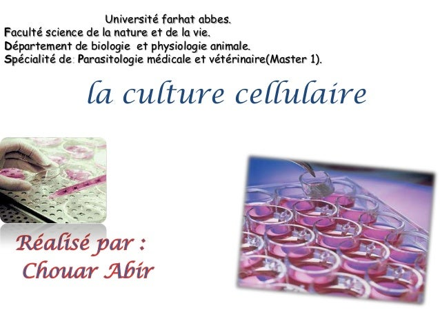 Université farhat abbes. Faculté science de la nature et de la vie. Département de biologie et physiologie animale. Spécia...