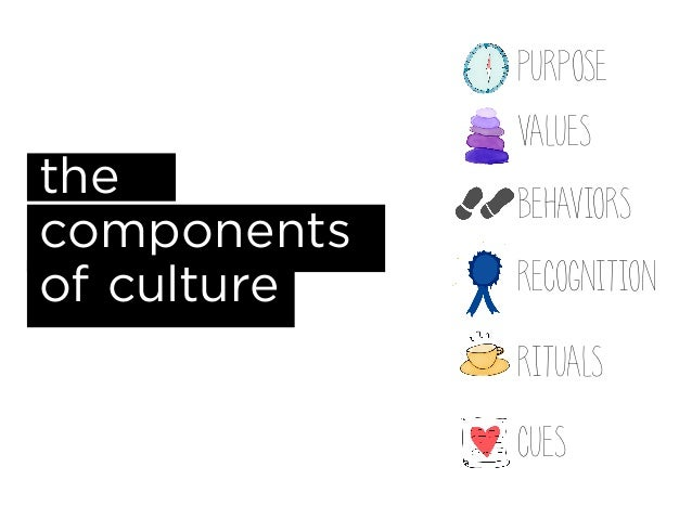 main components of culture 221 the components of culture: symbols, language, values and norms you must have noticed that when you compare individuals in the way they behave and interact in society, there are.