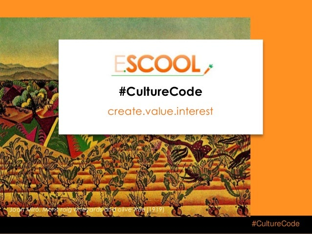 #CultureCode ESCOOL Thinkers & Makers for Food and Healthy Lifestyle