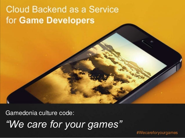 """#Wecareforyourgames Gamedonia culture code: """"We care for your games"""""""