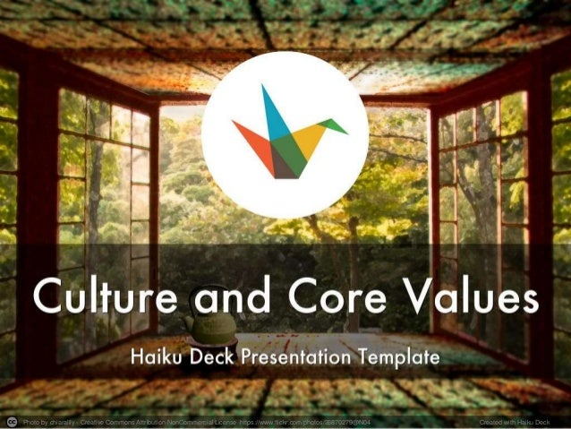 Culture Code Haiku Deck Presentation Template