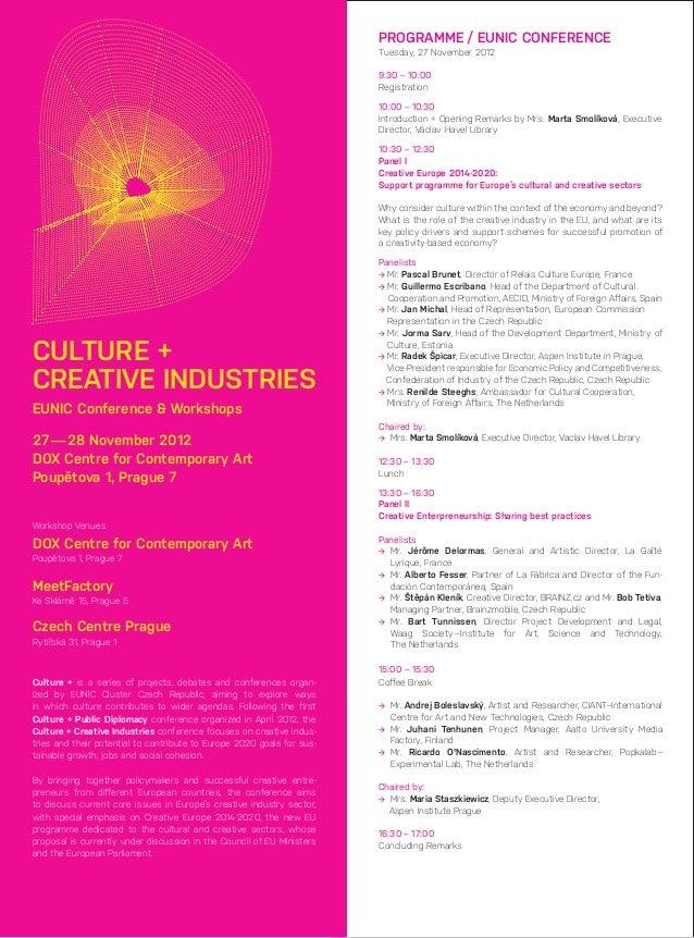Culture + creative industries