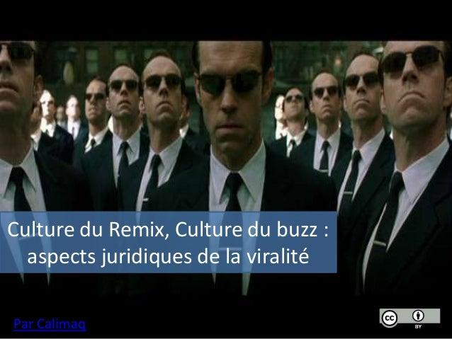 Culture du remix, culture du buzz : aspects juridiques de la viralité