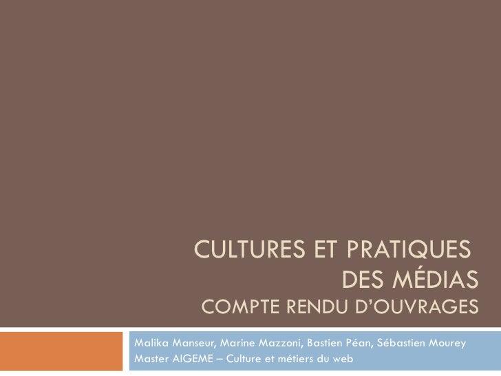 Culture Et Pratique Des Médias