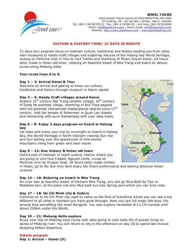 JEWEL TOURS International Travel license:01-043/2009/TCDL-GP-LHQT NT building, 50 – 52 Yen Bai 1 Street., Hanoi, Vietnam T...