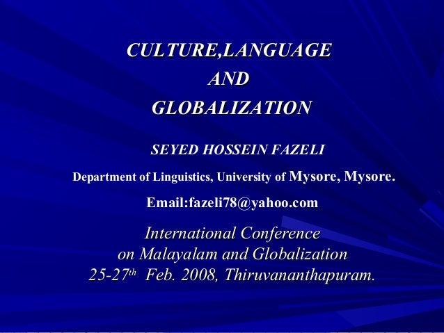 Culture,Language,anld Globalization