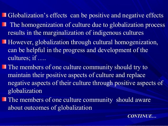 negative and positive effects of globalization essay