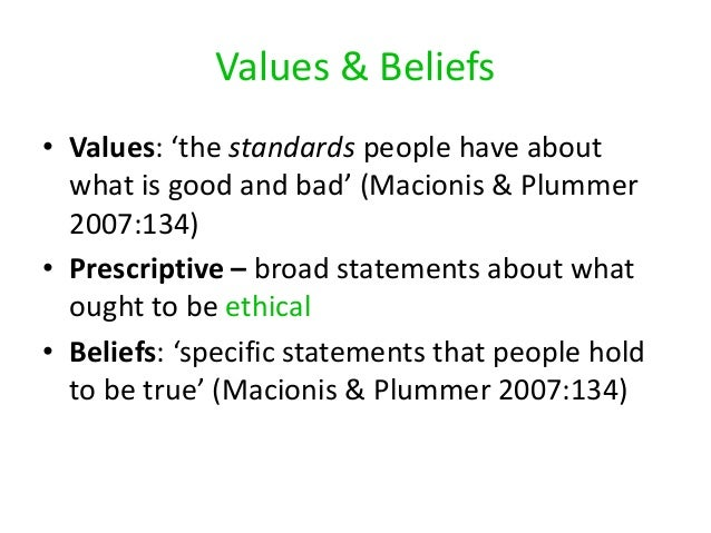 the values and beliefs of the american people