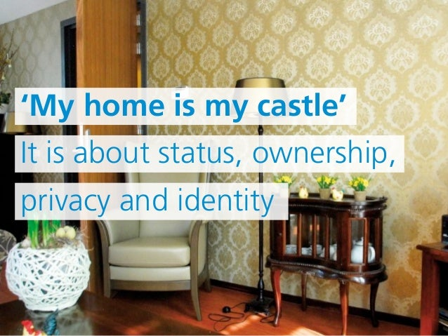 'My home is my castle'   It is about status, ownership,   privacy and identitywww.institute.nhs.uk | Assisting the NHS in ...