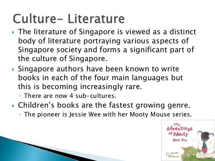 the singapore culture Find out more about singapore's history and culture so you get to know the people a little better.