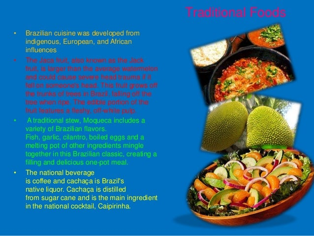 Brazil culture powerpoint for American cuisine presentation
