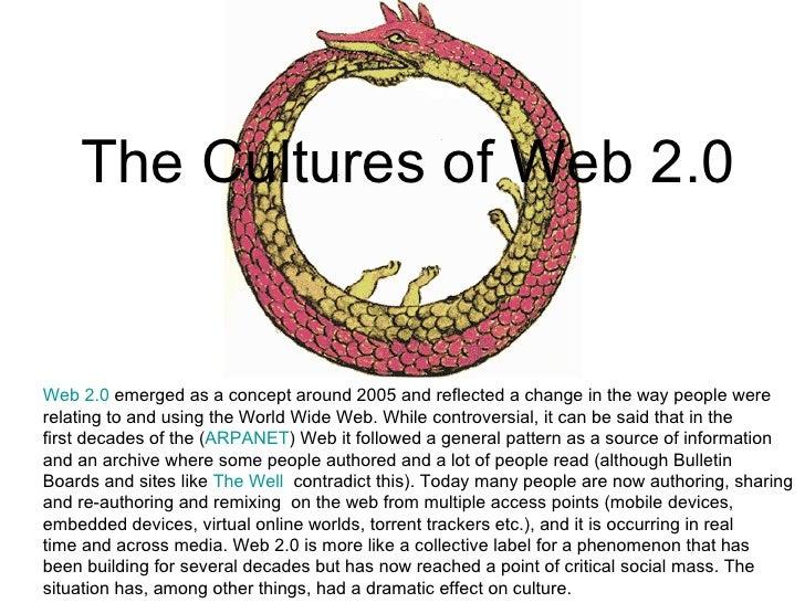 Cultures of Web 2.0