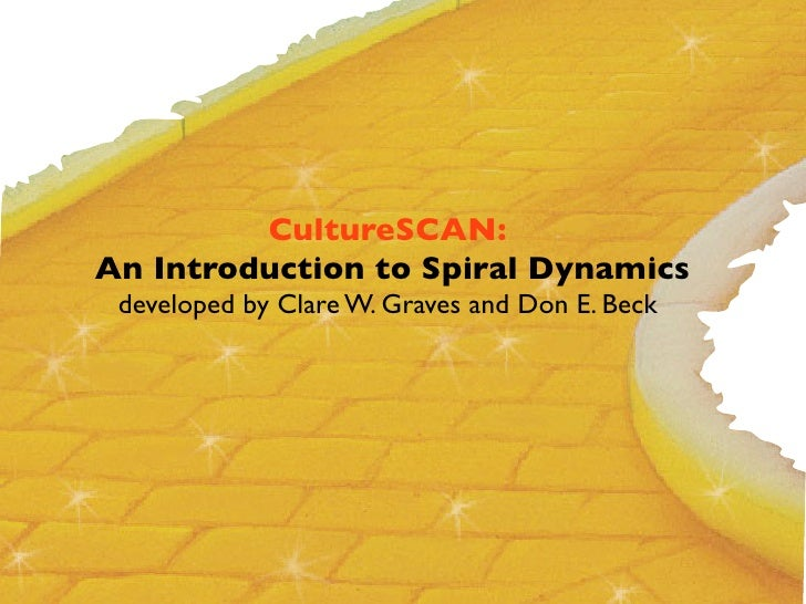 CultureSCAN: An Introduction to Spiral Dynamics  developed by Clare W. Graves and Don E. Beck
