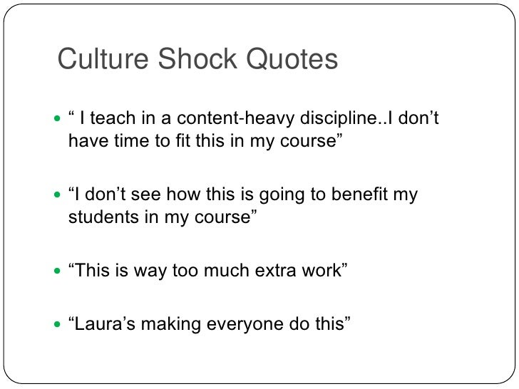 Essay On Culture Shock