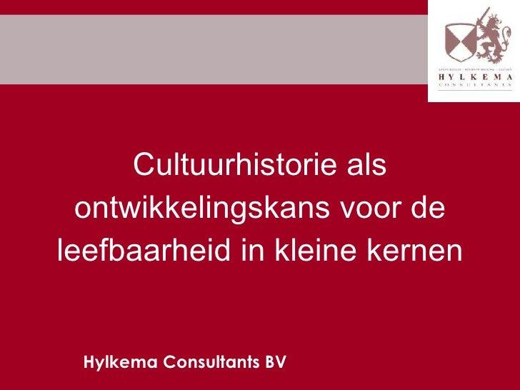 Cultuurhistorie en Leefbaarheid