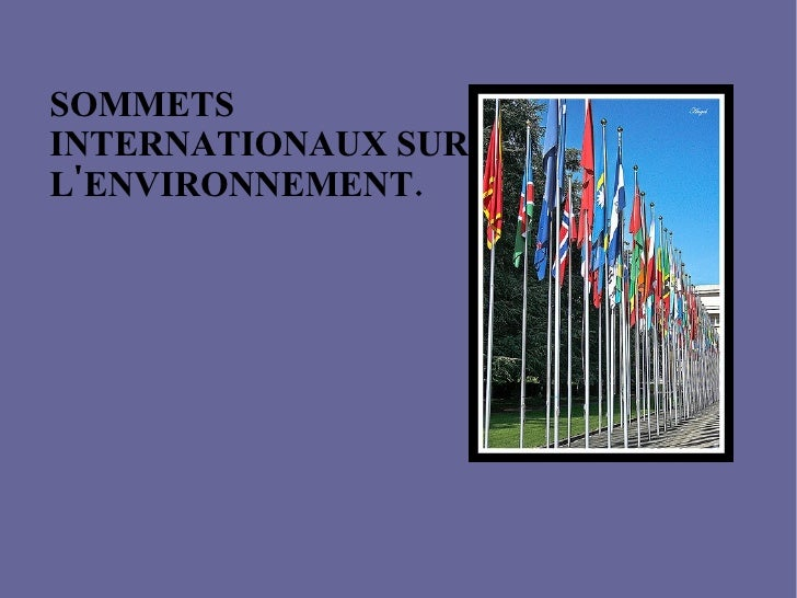 Cumbres Internacionales Presentacion  Frances