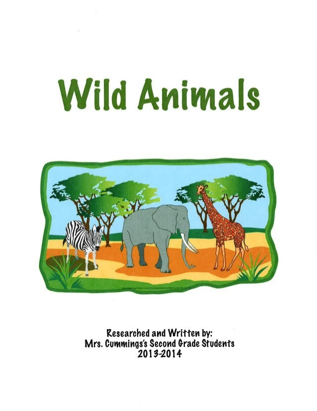 Wild Animals: A Wild Animal Animal Book by Mrs. Cummings's Class