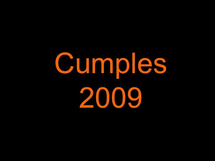 Cumples 2009