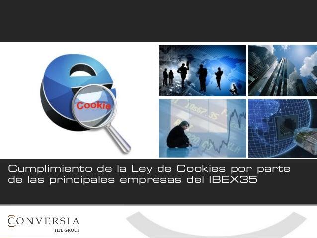 Cumplimiento de la Ley de Cookies por parte de las principales empresas del IBEX 35. Conversia