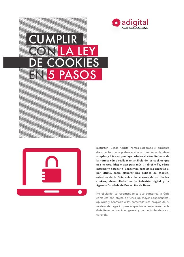 Cumplir con la ley de cookies en 5 pasos de la Asociación Española de Economía Digital