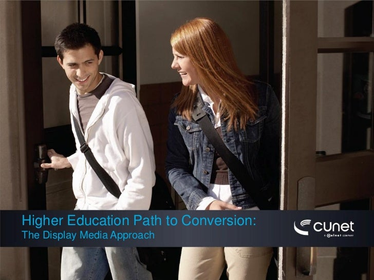 Higher Education Path to Conversion: The Display Media Approach