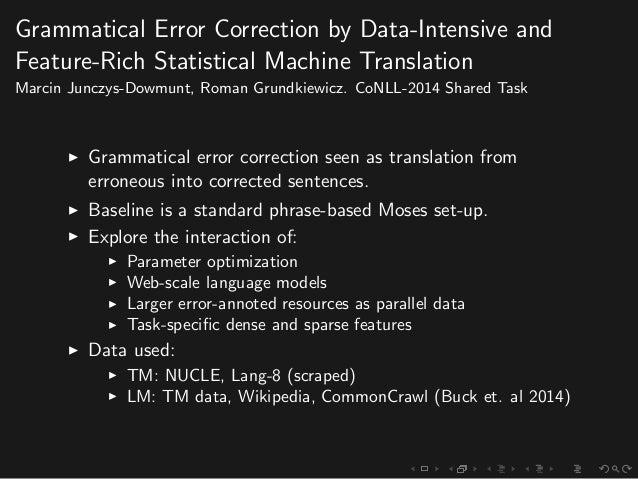 Grammatical correction