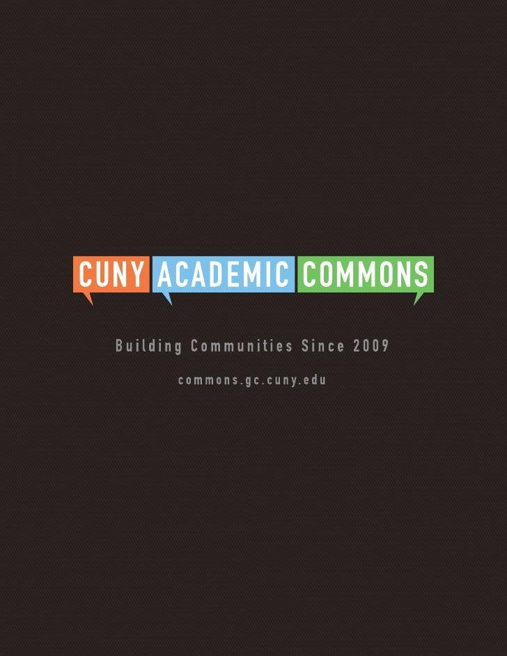 CUNY Academic Commons Brochure